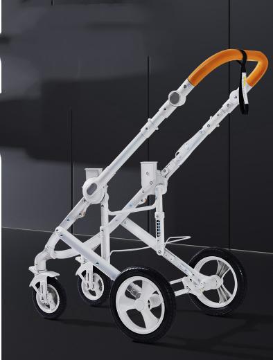 人気美品特売!ベービー 乳母車 ポータブル 折り畳み 坐寝兼用 ツーウエイ 四輪ゴム輪 ショック吸収 座り心地良い 赤ちゃん向け HJ-18_画像8