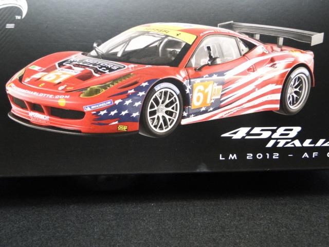 ホットウィール エリートシリーズ 1/18 フェラーリ458イタリア GT2 2012LeMans AF CORSE