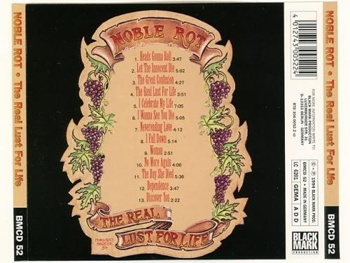 ドイツ産ドゥームハードロック The Real Lust For Life / Noble Rot ノーブル・ロット [Used CD] [BMCD 52] [Import] [管26*9312120312/60]_画像2