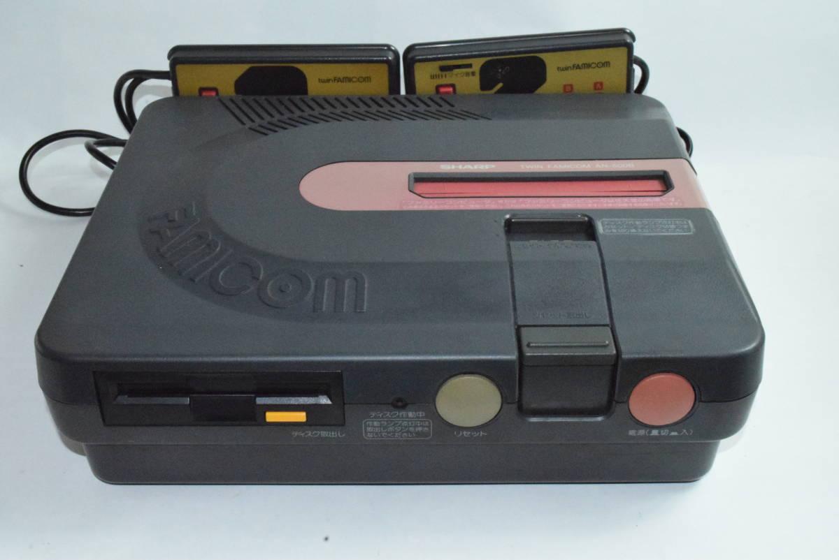SHARP AN-500B ツインファミコン 本体 中古 カセット ディスク付き_画像2