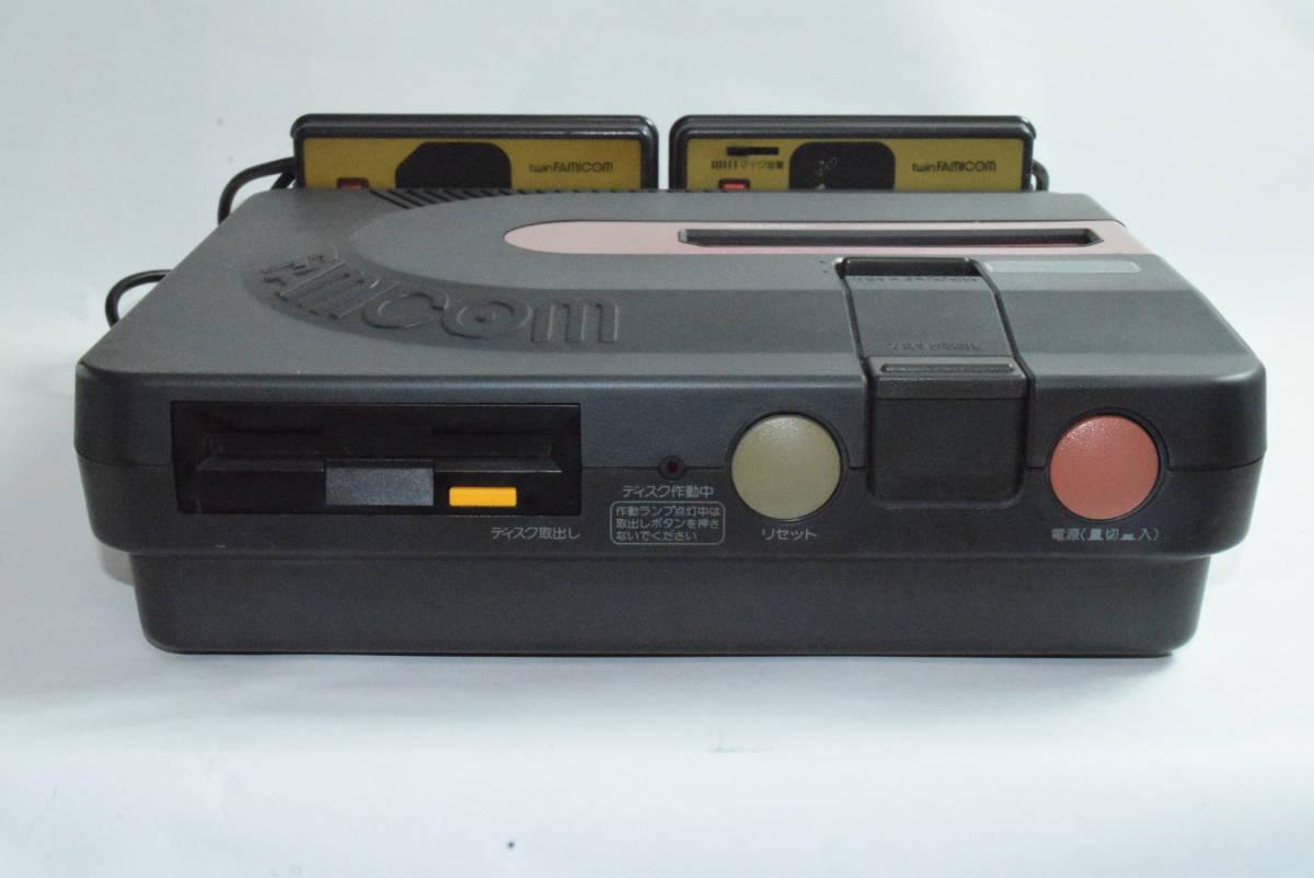 SHARP AN-500B ツインファミコン 本体 中古 カセット ディスク付き_画像3