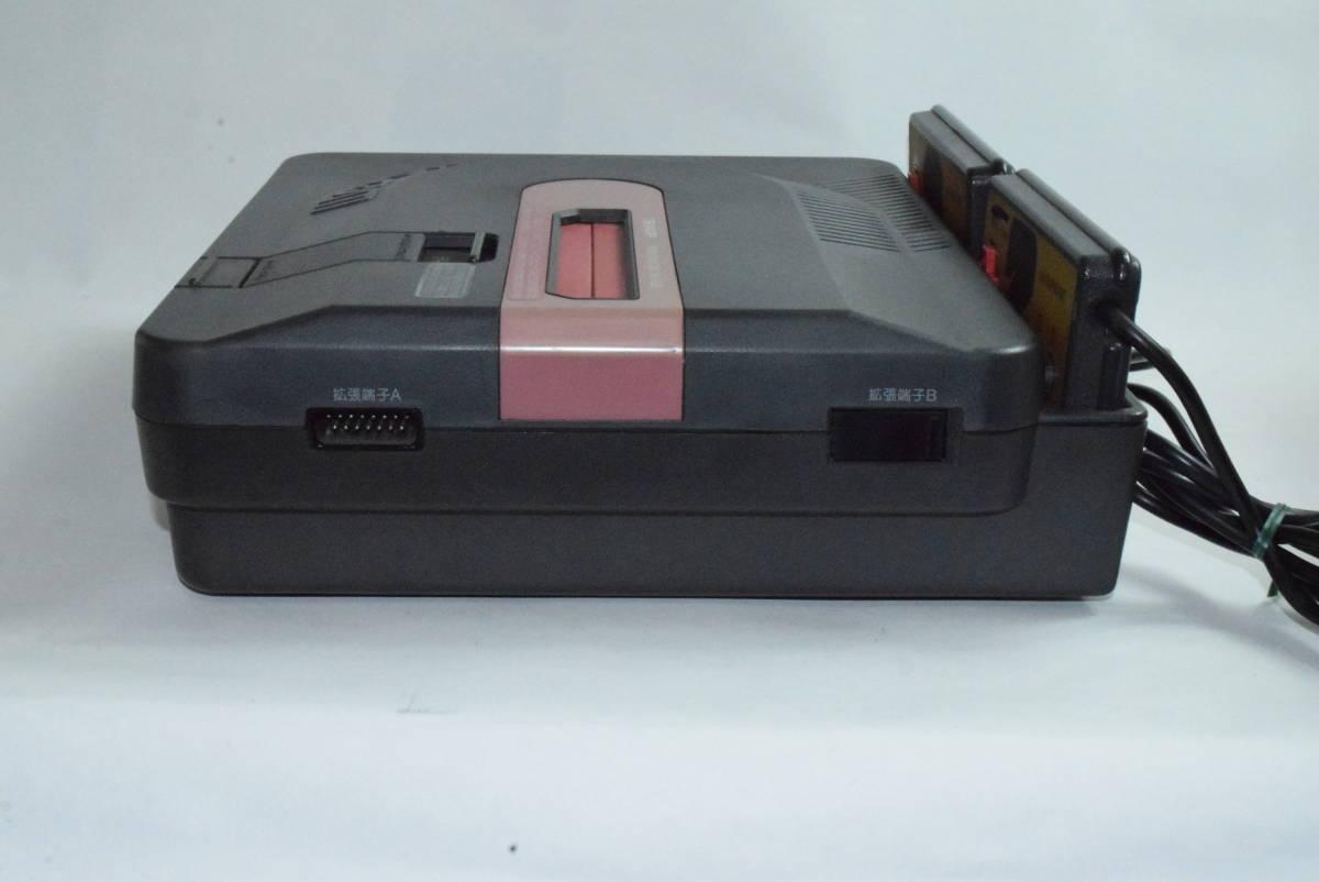 SHARP AN-500B ツインファミコン 本体 中古 カセット ディスク付き_画像4