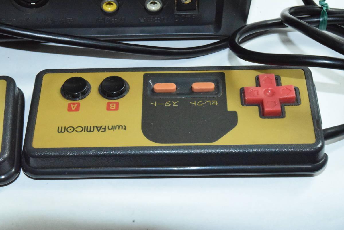 SHARP AN-500B ツインファミコン 本体 中古 カセット ディスク付き_画像7
