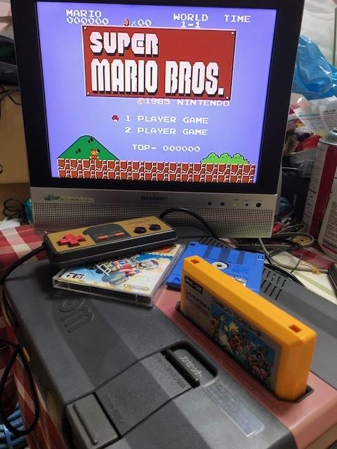 SHARP AN-500B ツインファミコン 本体 中古 カセット ディスク付き_画像10