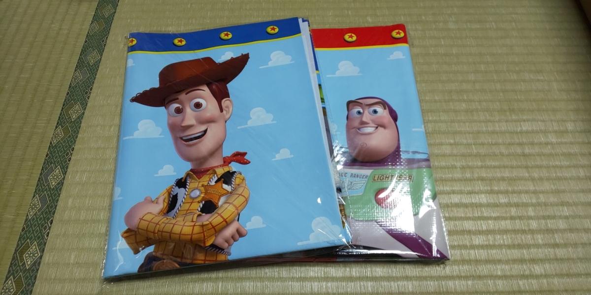 トイストーリー レジャーシート 2種 セット ウッディ バズライトイヤー ディズニー MovieNEX ピクサー Pixar DVD Blu-ray ブルーレイ 特典_画像1