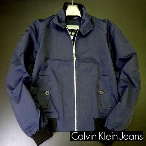 新品 カルバンクラインジーンズ 大人気 G-9 スイングトップ ブルゾン L 紺 ジップ ジャケット Calvin Klein Jeans メンズ 男性 紳士用