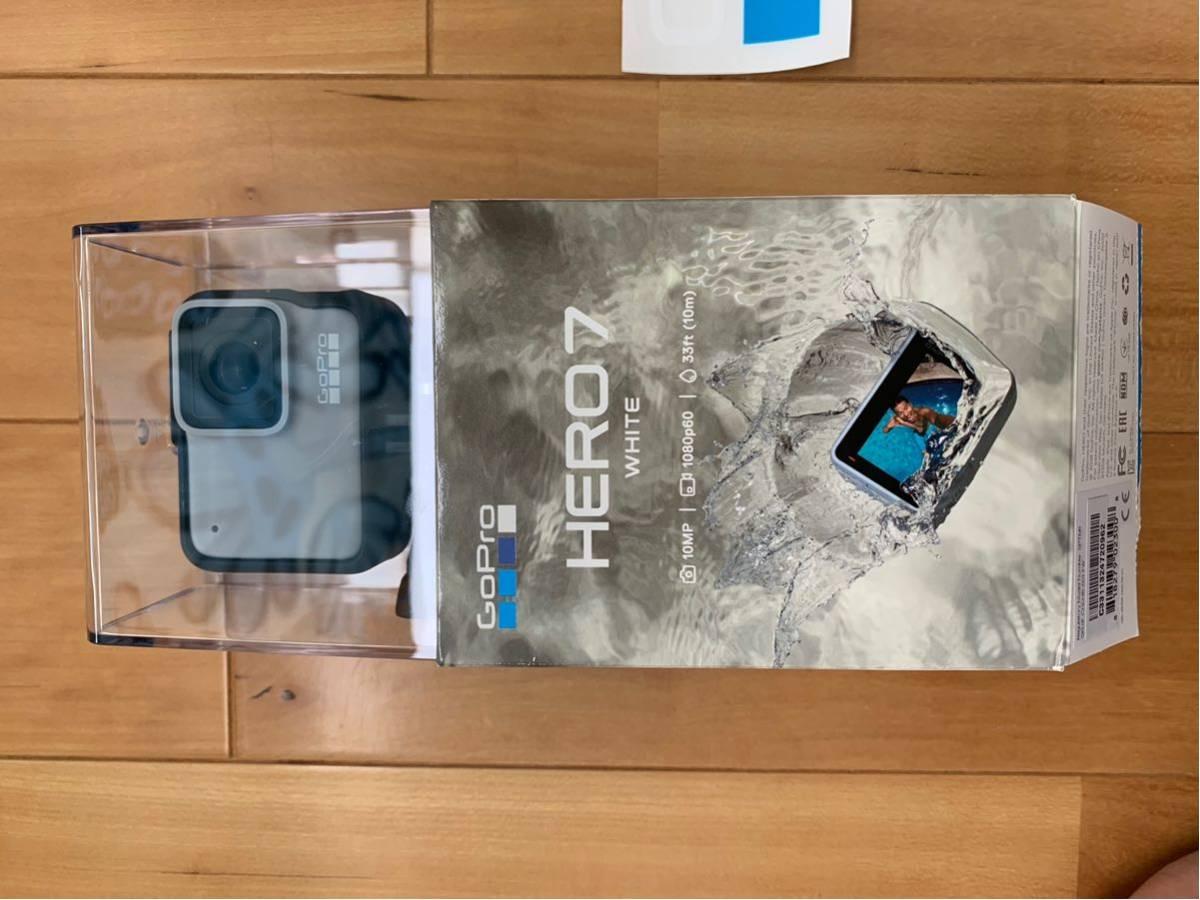 ほぼ新品1円スタート最落なし GoPro HERO7 white 限定ステッカー付きCHDHB-601-FW_画像4