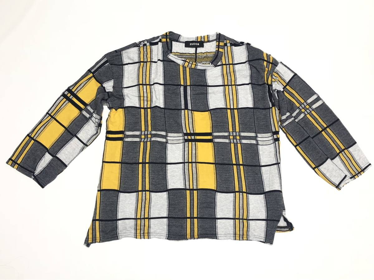 ZUCCA zucca design cotton knit cut-and-sew shirt M men's women's combined use Anet Japan 0730