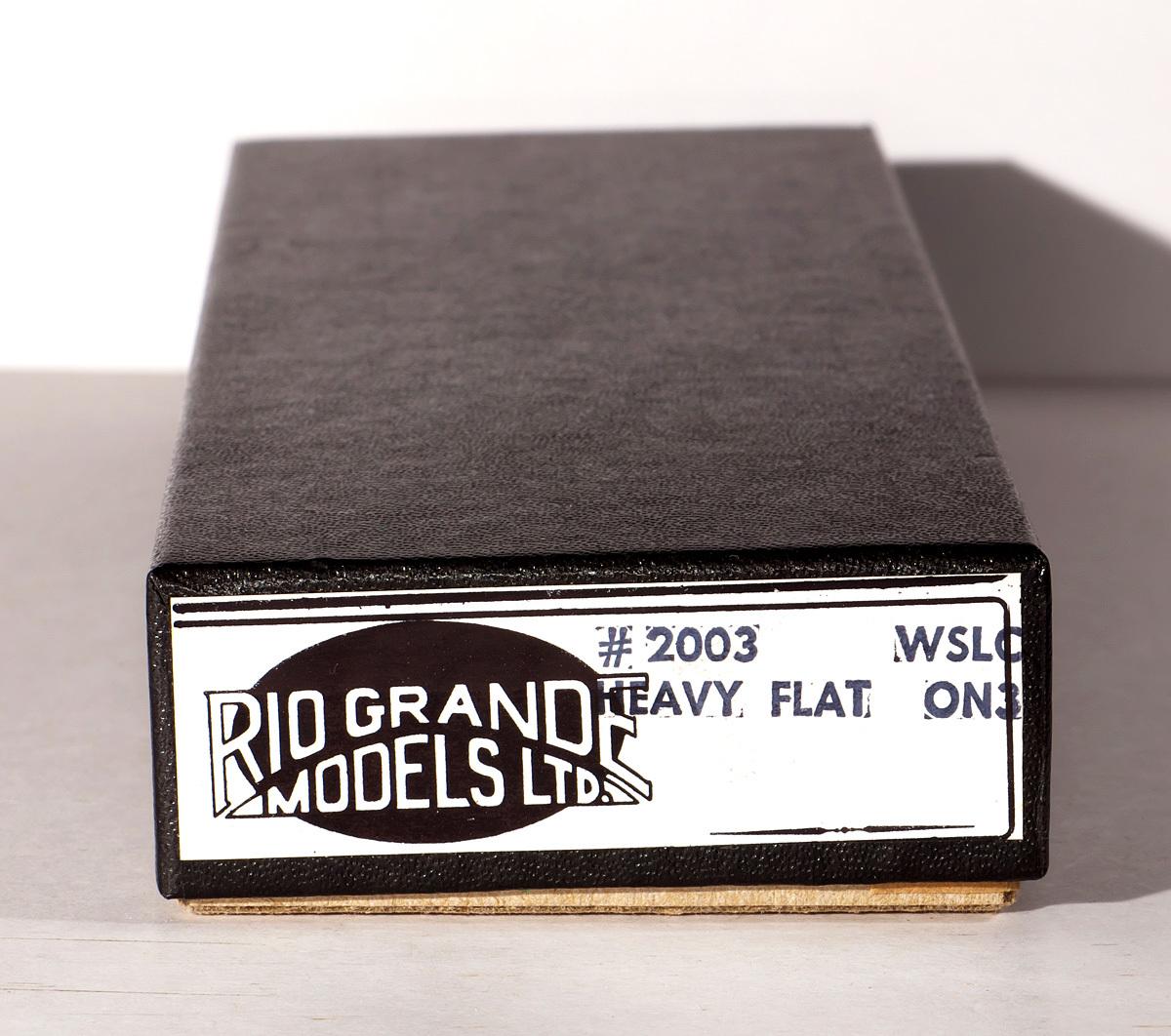 On3 KIT HEAVY FLAT #2003 Rio Grande Models Ltd  小箱