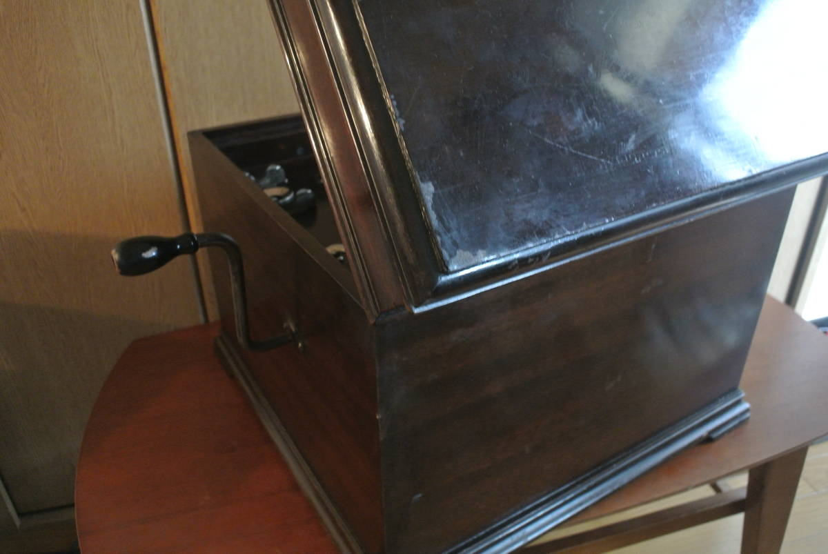 HMV130蓄音機 sp盤 蓄音器 ビクター ビクトローラ 昭和レトロ 蓄音機_画像7