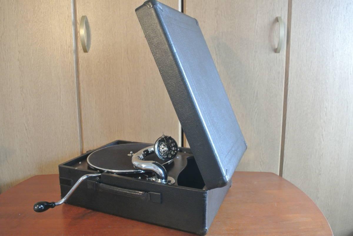 HMV102蓄音機 sp盤 蓄音器 ビクター ビクトローラ 昭和レトロ 蓄音機_画像2