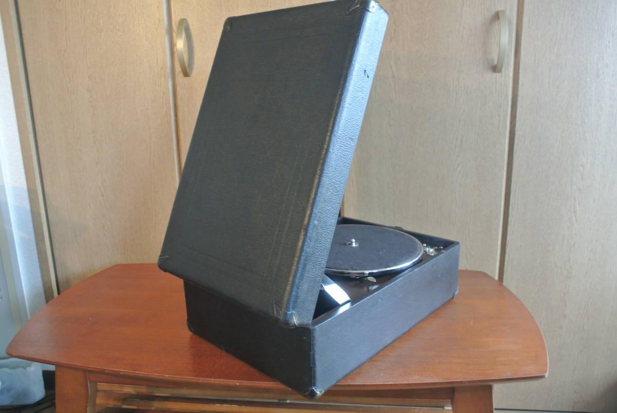 HMV102蓄音機 sp盤 蓄音器 ビクター ビクトローラ 昭和レトロ 蓄音機_画像6