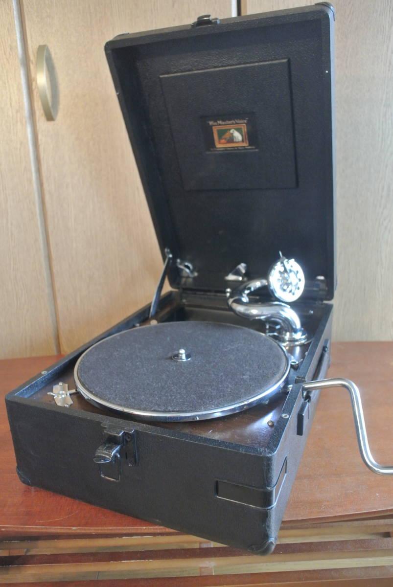 HMV102蓄音機 sp盤 蓄音器 ビクター ビクトローラ 昭和レトロ 蓄音機_画像1