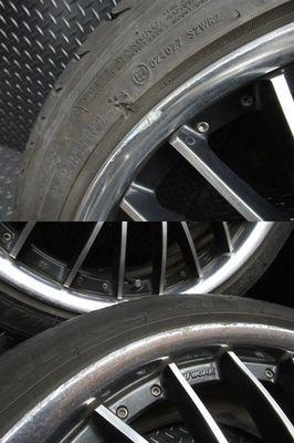 ●WORK ワーク シュバート SC5 19インチ 9J +48 PCD 120 5H ホイール 4本通しサイズ 245/40ZR19 タイヤ付き BMW LEXUS LS_画像6
