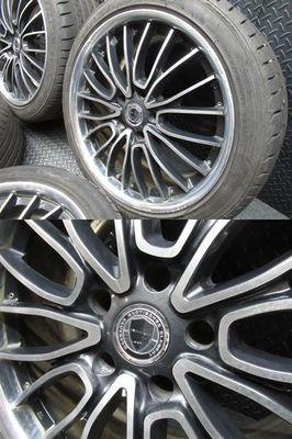 ●WORK ワーク シュバート SC5 19インチ 9J +48 PCD 120 5H ホイール 4本通しサイズ 245/40ZR19 タイヤ付き BMW LEXUS LS_画像3