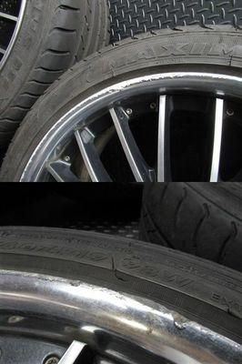 ●WORK ワーク シュバート SC5 19インチ 9J +48 PCD 120 5H ホイール 4本通しサイズ 245/40ZR19 タイヤ付き BMW LEXUS LS_画像5