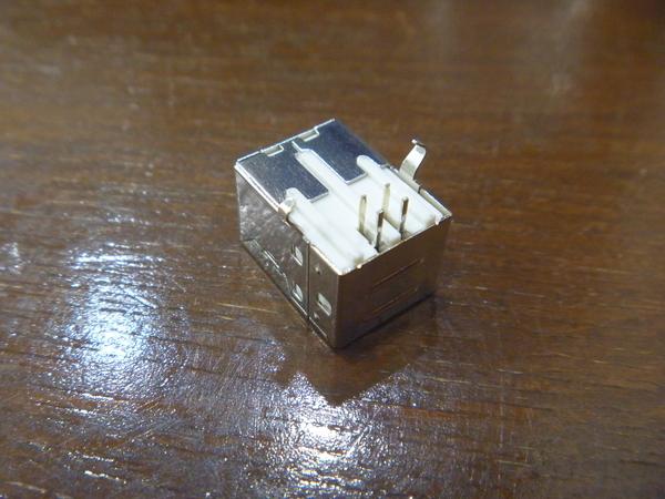 3) 基板取付用 USBコネクタ Bタイプ メス 3個 新品未使用_画像3