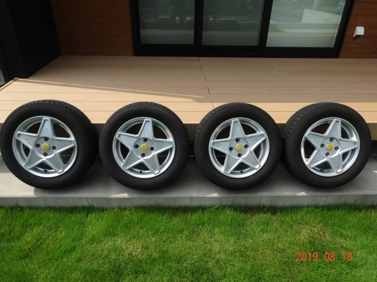 AGA CORSE 14inch[175/65R14]フィアット500 FIAT スター型アルミホイール&サマータイヤ4本セット GOODYEAR