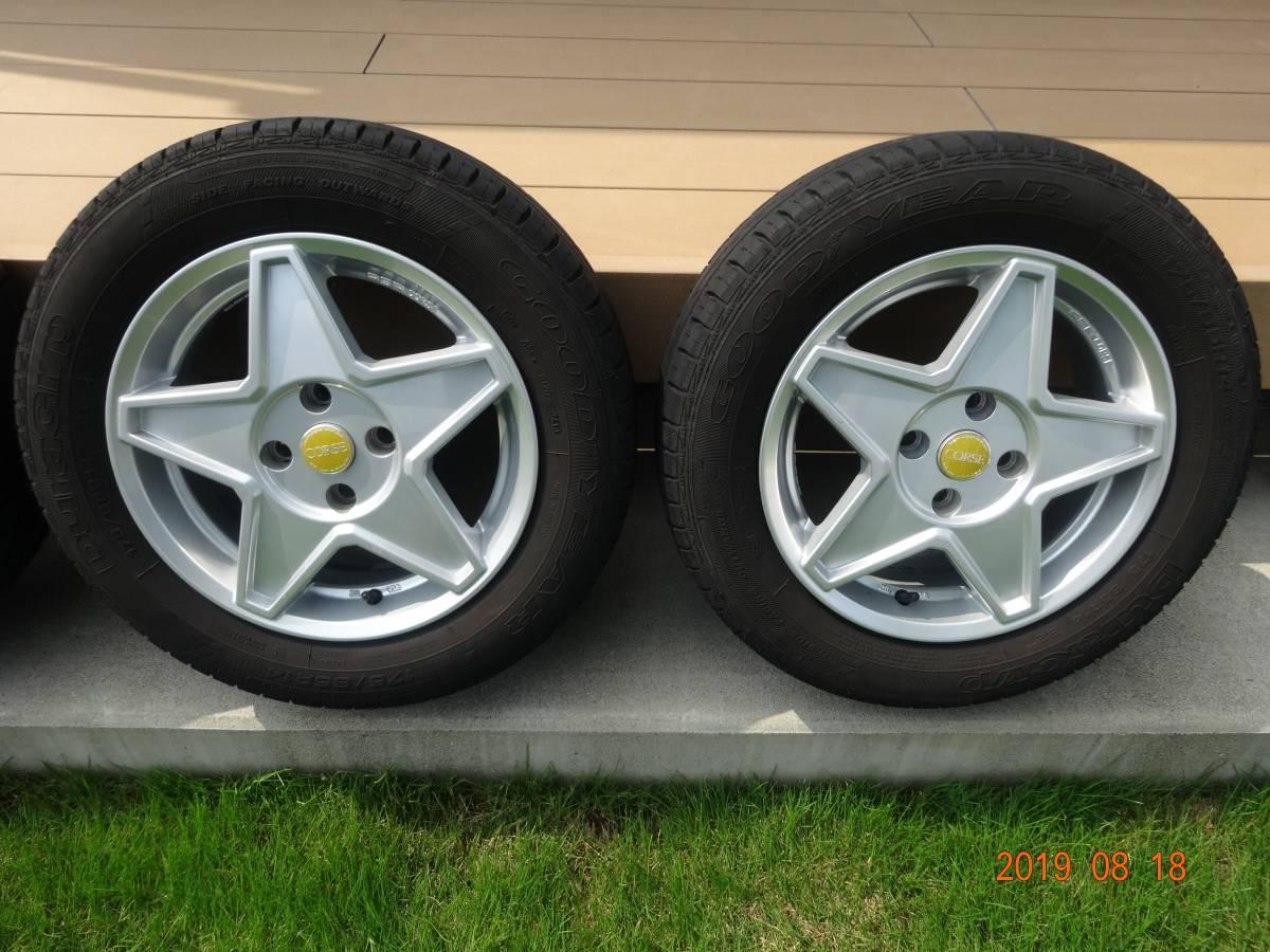 AGA CORSE 14inch[175/65R14]フィアット500 FIAT スター型アルミホイール&サマータイヤ4本セット GOODYEAR _画像3