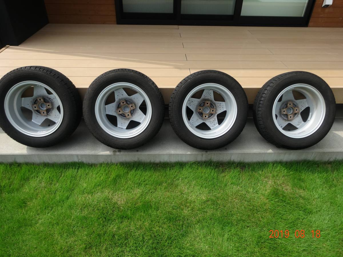 AGA CORSE 14inch[175/65R14]フィアット500 FIAT スター型アルミホイール&サマータイヤ4本セット GOODYEAR _画像8