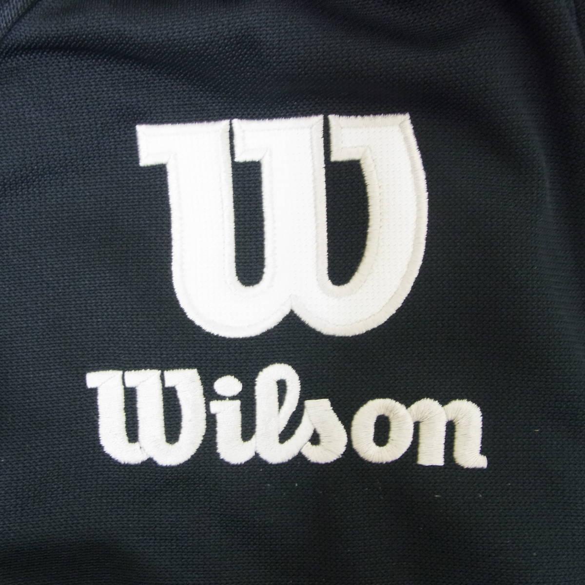 WILSON ウィルソン☆メンズ ジャージジャケット ☆吸汗速乾 メッシュ フード付き トラックジャケット☆スポーツ フィットネス トレーニング_画像6