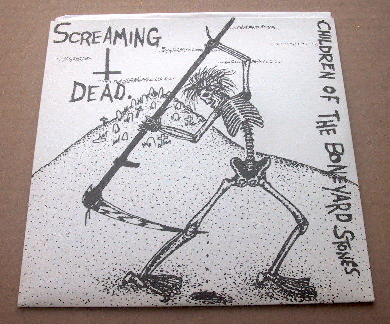Screaming Dead / Children Of The Boneyard Stones EP UK 80's HARD PUNK chaos uk discharge Partisans No Future Records_画像1