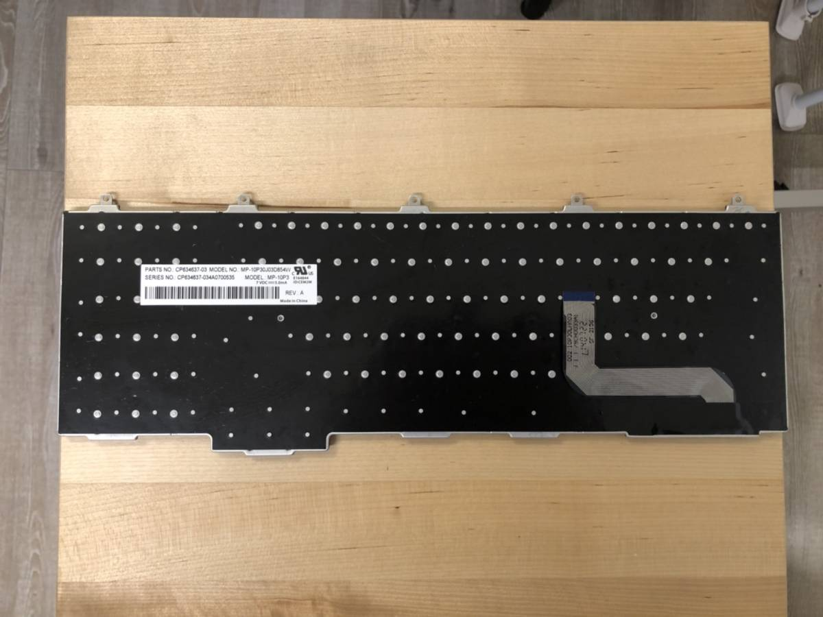 富士通 LIFEBOOK MP-10P30J03D854W 日本語キーボード 黒_画像2