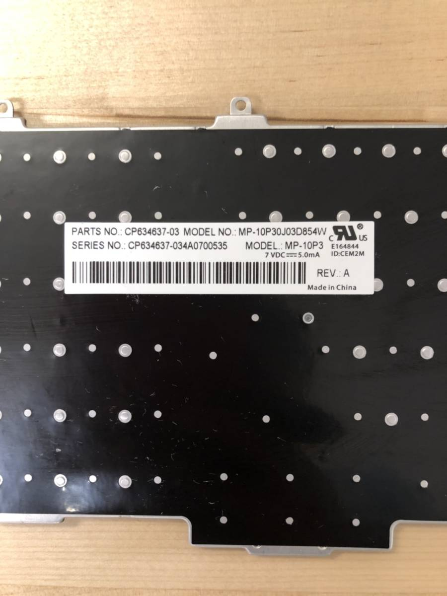 富士通 LIFEBOOK MP-10P30J03D854W 日本語キーボード 黒_画像3