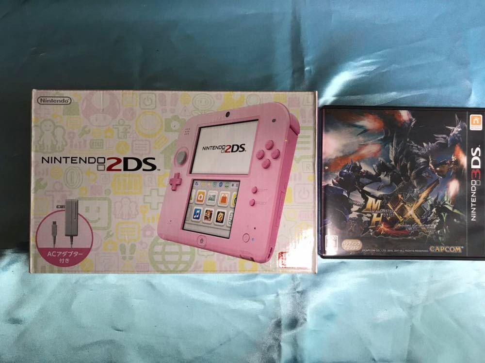 Nintendo2DS、モンスターハンターXXダブルクロス セット 【中古】格安 美品 ニンテンドー 任天堂 3DS モンハン