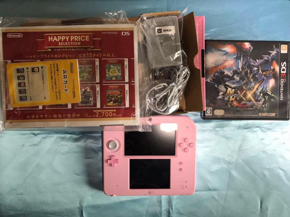 Nintendo2DS、モンスターハンターXXダブルクロス セット 【中古】格安 美品 ニンテンドー 任天堂 3DS モンハン_画像2