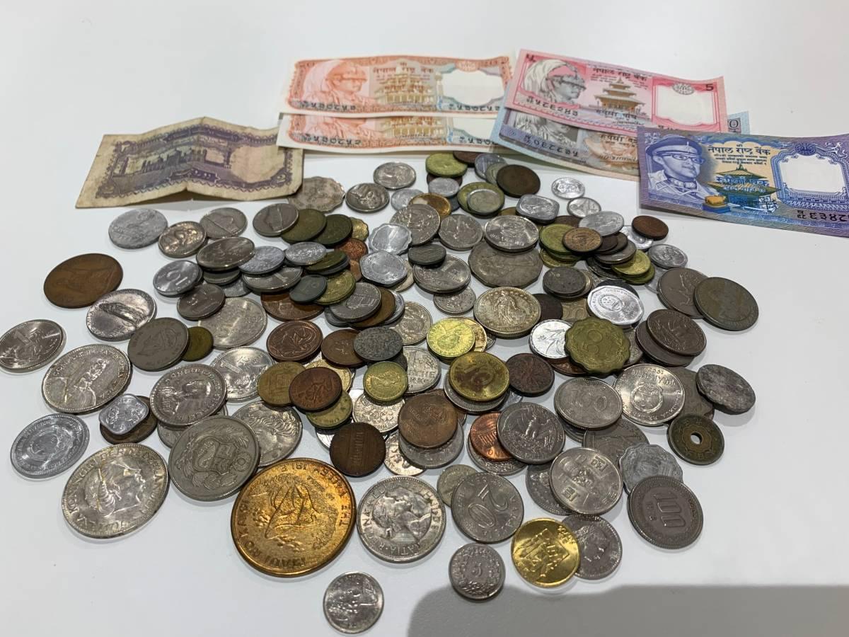 【134~528】一部国別 外国銭 古銭 銀貨 硬貨 紙幣 おまとめ 約2550g_画像9