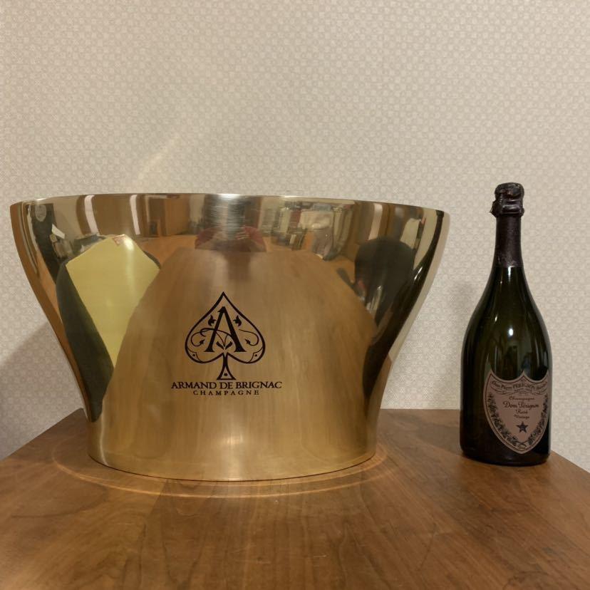 激レア 新品 未使用 アルマンド ブリニャック ダブル シャンパン クーラー アイスバケツ 金属製 箱付き ディスプレイ 高級 インテリア