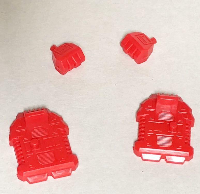 旧トランスフォーマーガム サイバトロン プロテクトボット 合体戦士ガーディアンの両手と両足、防衛指揮官ホットスポットの肩とホース_画像3