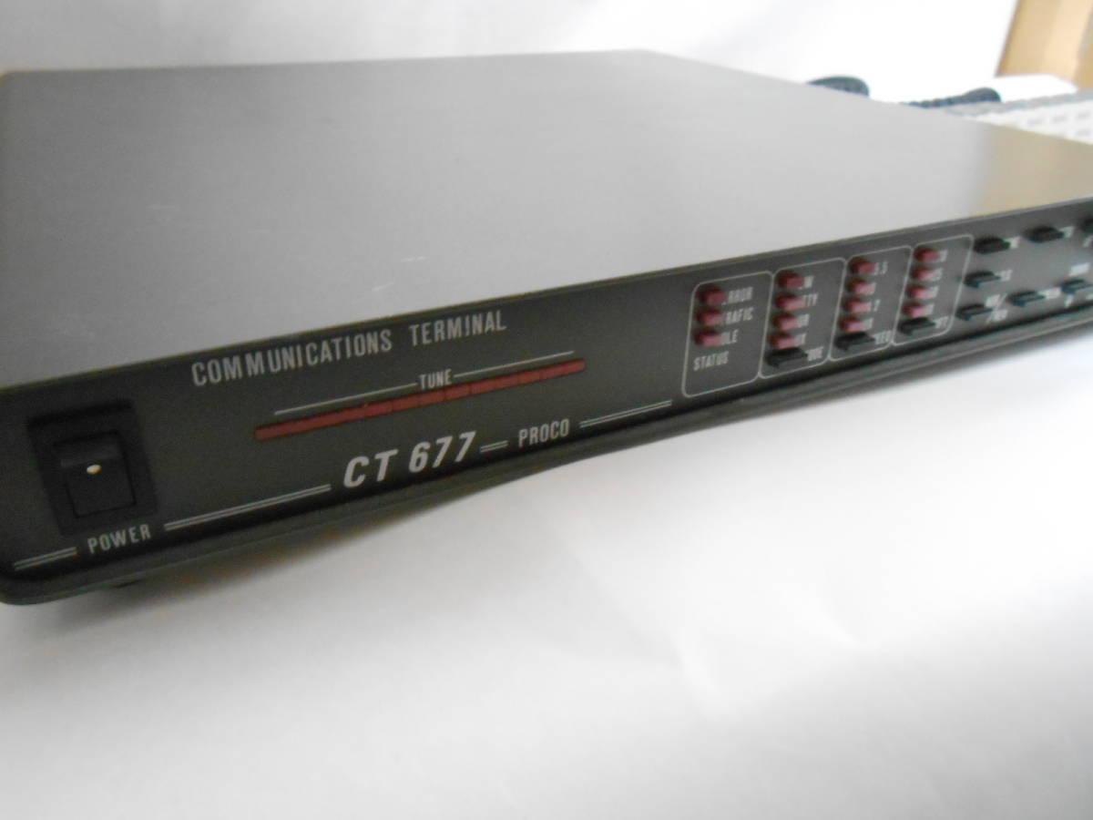 CW・RTTY PROCO CT-677  キーボード(KB-1)付 _画像2