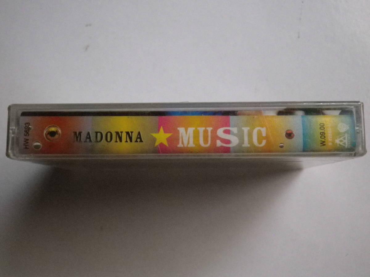 未開封カセットテープ マドンナ MADONNA MUSIC 輸入版 未使用品 同梱可(まとめて取引)_画像4