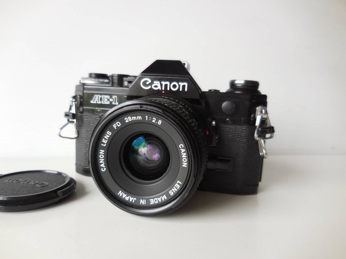 キヤノン CANON AE-1貴重黒ボディ(シャッター鳴き無し)   単焦点レンズ付き
