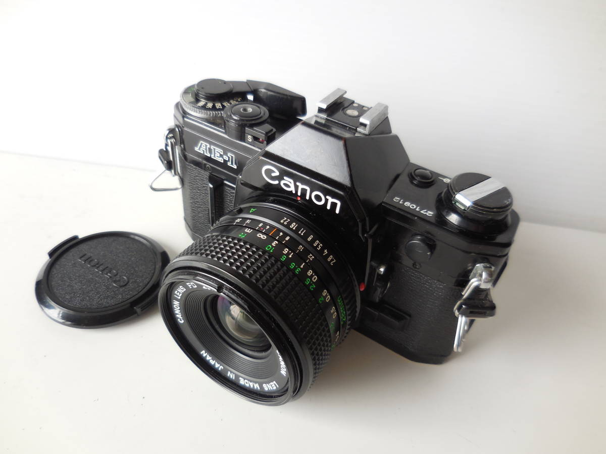 キヤノン CANON AE-1貴重黒ボディ(シャッター鳴き無し)   単焦点レンズ付き_画像3