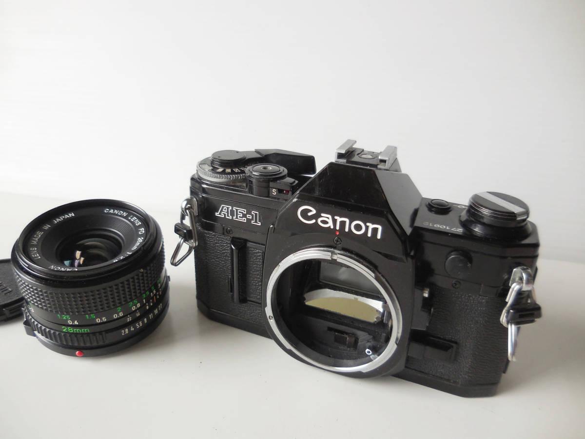 キヤノン CANON AE-1貴重黒ボディ(シャッター鳴き無し)   単焦点レンズ付き_画像6