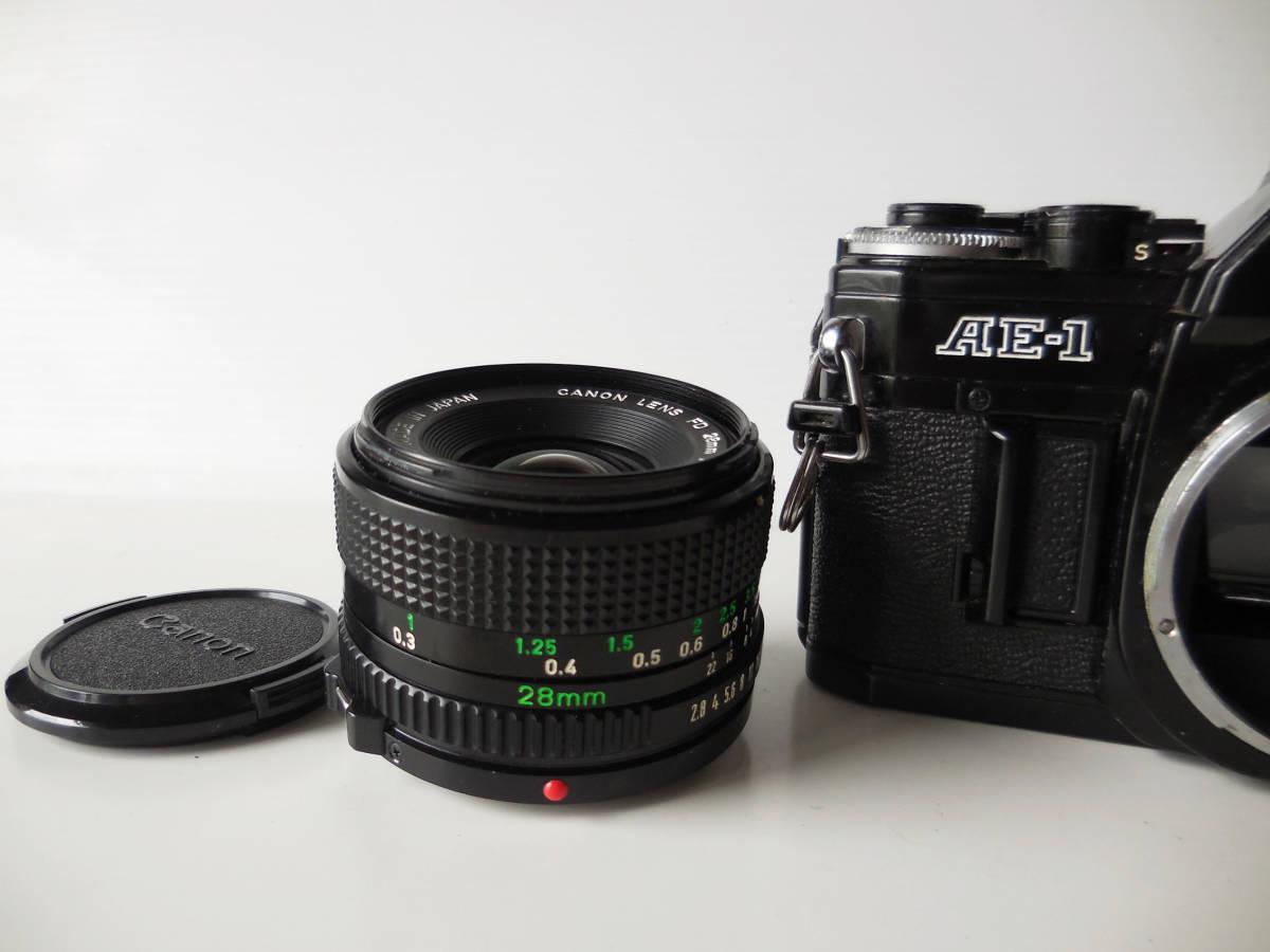 キヤノン CANON AE-1貴重黒ボディ(シャッター鳴き無し)   単焦点レンズ付き_画像7