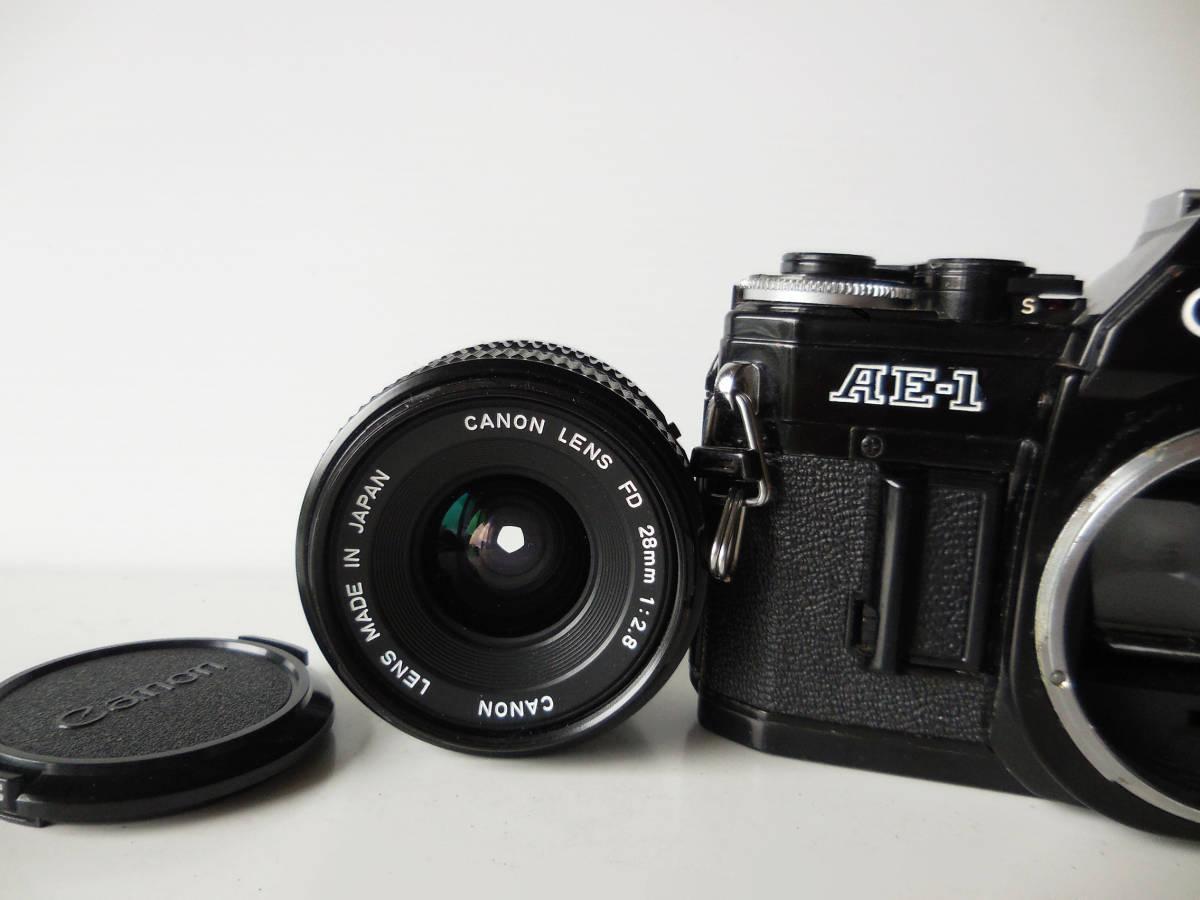 キヤノン CANON AE-1貴重黒ボディ(シャッター鳴き無し)   単焦点レンズ付き_画像8