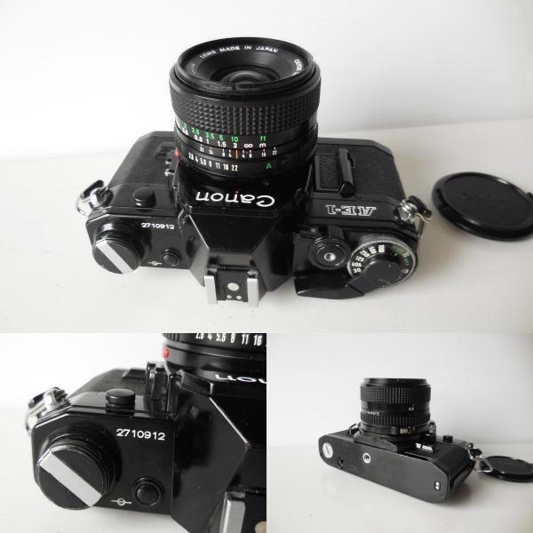 キヤノン CANON AE-1貴重黒ボディ(シャッター鳴き無し)   単焦点レンズ付き_画像10
