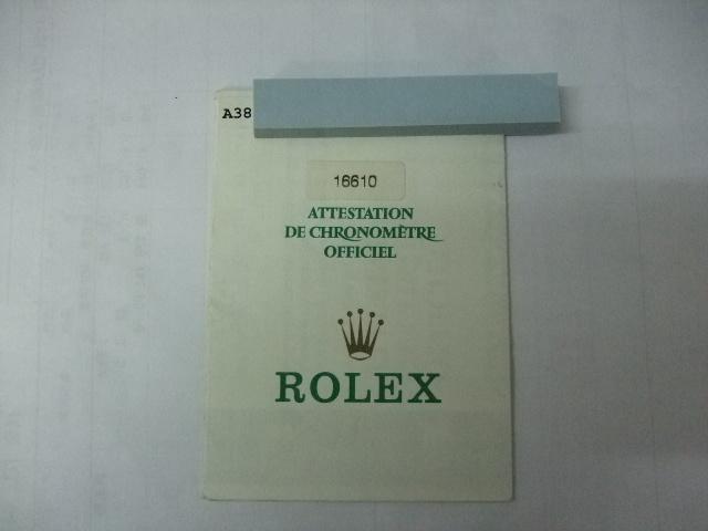 希少 純正 ロレックス サブマリーナデイト 16610 A番 国際保証書 中古です 画像の物が全てです詳細はご質問にてお受けいたします_画像1