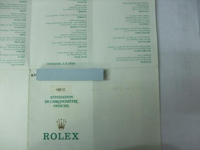 希少 純正 ロレックス サブマリーナデイト 16610 A番 国際保証書 中古です 画像の物が全てです詳細はご質問にてお受けいたします_画像2