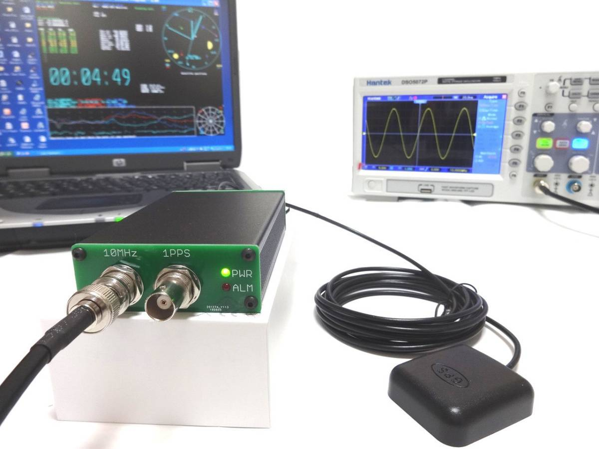 GPSDO 10MHz 周波数標準 1PPS マスタークロック GPS同期発振器 基準発振器/ OCXOより桁違いに高性能