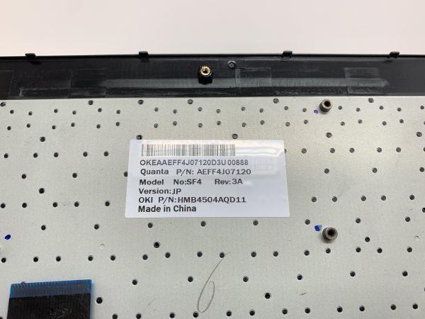 PCキーボード NEC LS550/L SF4 OKEAAEFF4J07120D3U 中古ノートパソコンパーツ PC部品 コンピューター_画像4