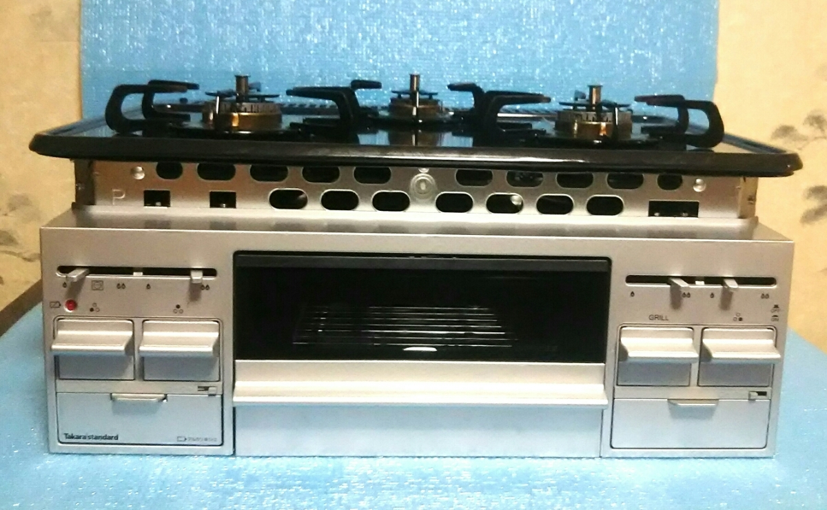 【格安】タカラスタンダードTN34AV60 ビルトイン ガスコンロ 3口コンロ保証期間有 LPガス 保証期間あり