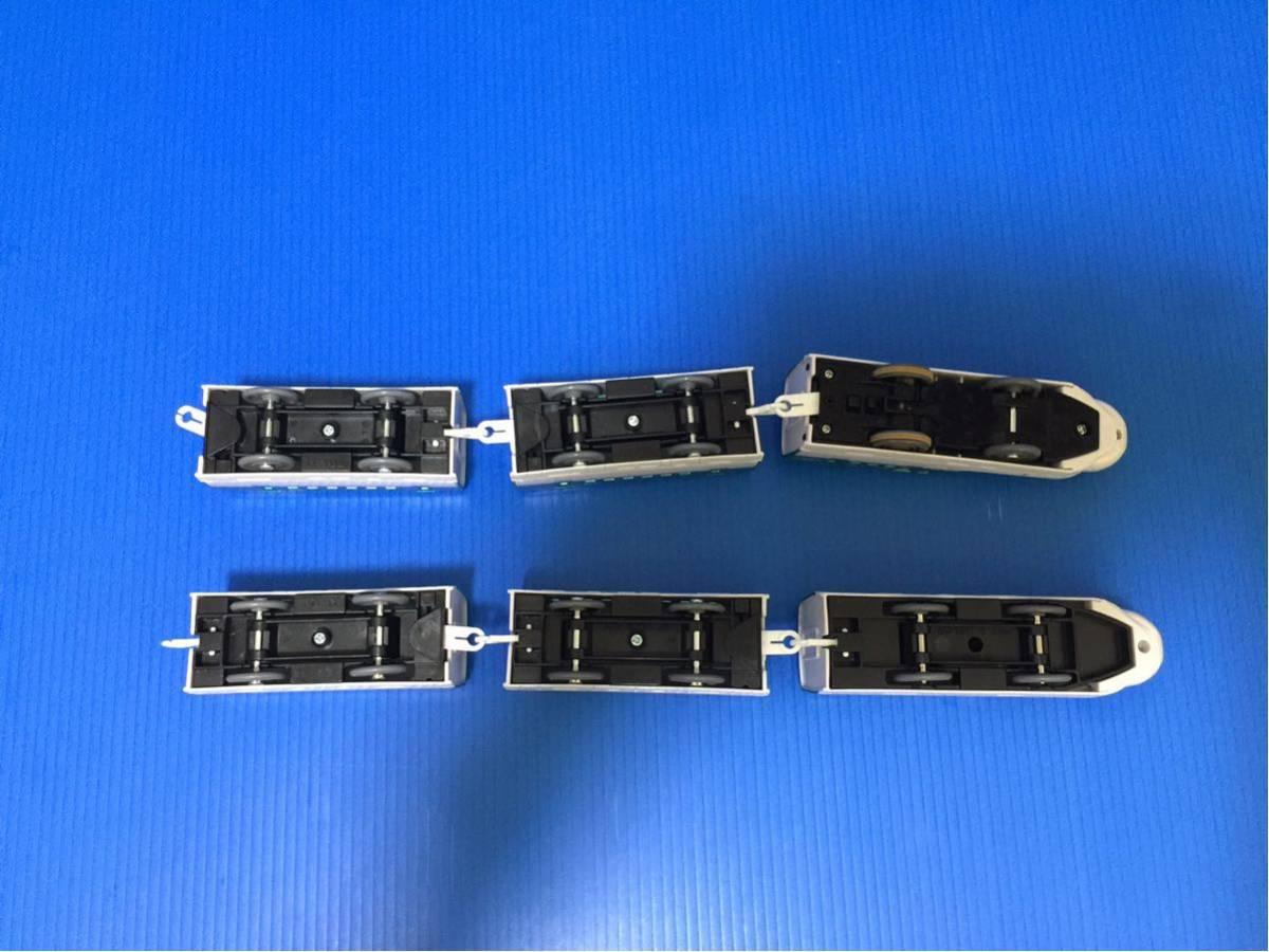 YS273B プラレール大量 同梱可能 レイアウト 車両 ぼくが運転 マスコン 北海道 新幹線 はやぶさ 6両編成 箱無し_画像8