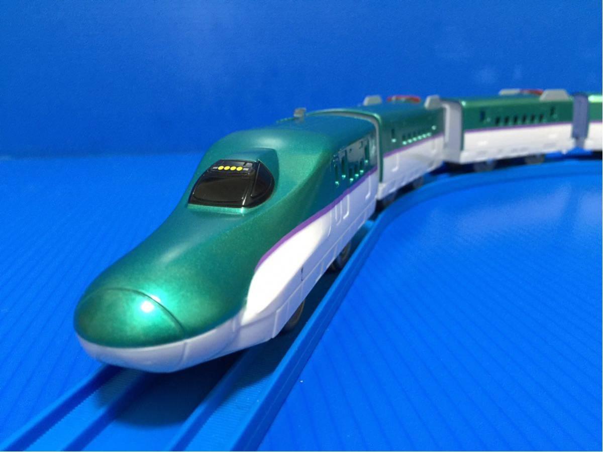 YS273B プラレール大量 同梱可能 レイアウト 車両 ぼくが運転 マスコン 北海道 新幹線 はやぶさ 6両編成 箱無し_画像4