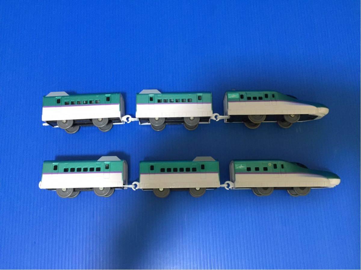 YS273B プラレール大量 同梱可能 レイアウト 車両 ぼくが運転 マスコン 北海道 新幹線 はやぶさ 6両編成 箱無し_画像7