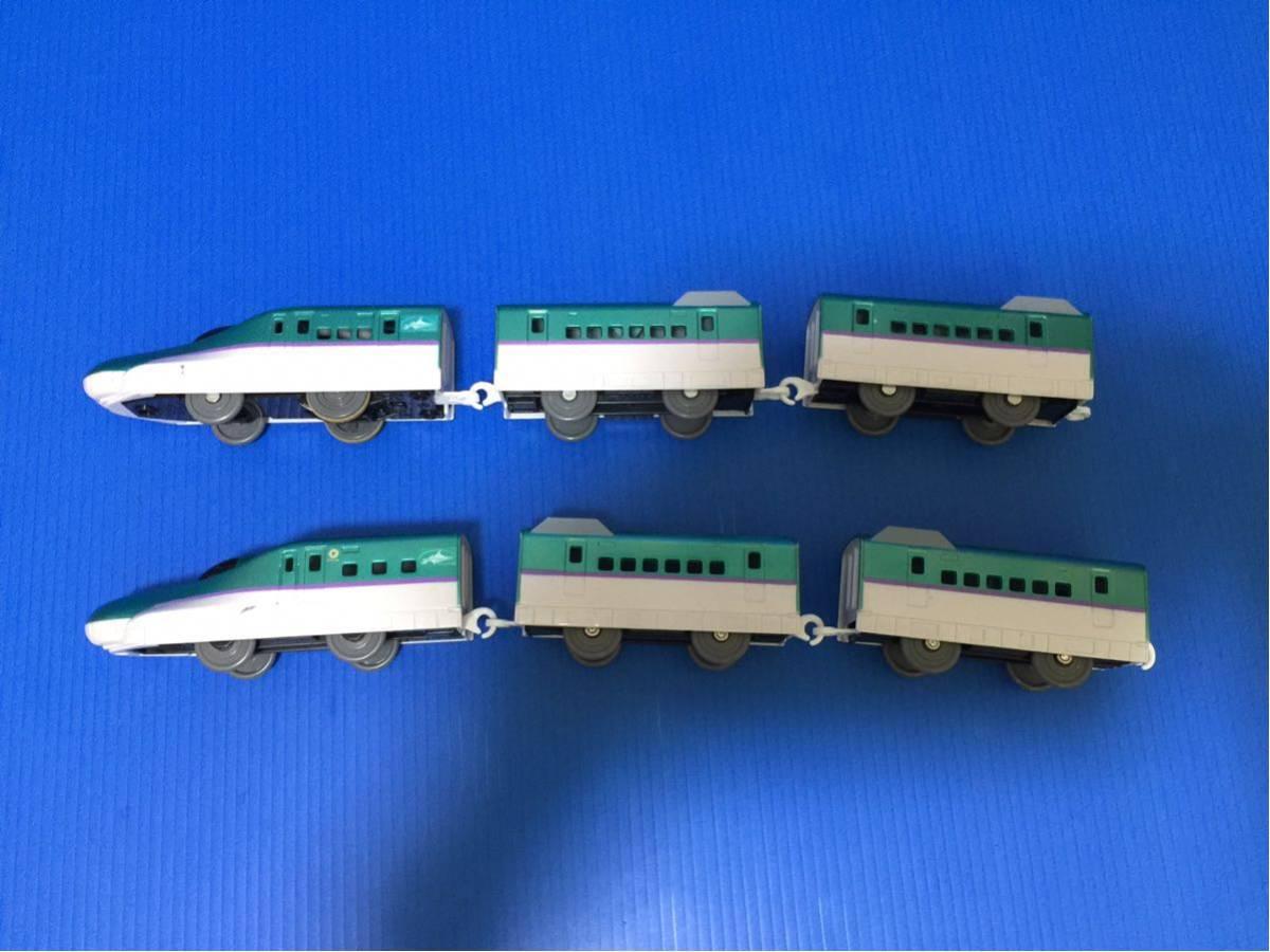 YS273B プラレール大量 同梱可能 レイアウト 車両 ぼくが運転 マスコン 北海道 新幹線 はやぶさ 6両編成 箱無し_画像6
